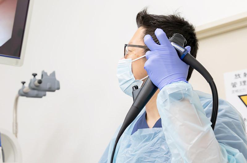 内視鏡専門医が検査を実施