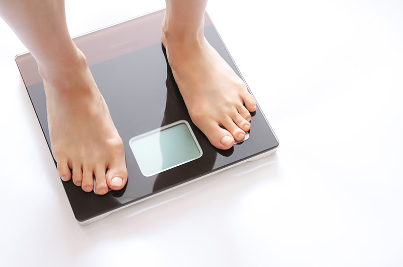 最近、体重が落ち始めた